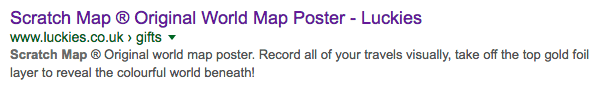 luckies original scratch map google result