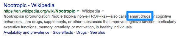 nootropics definition