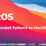 How to uninstall Python3 on MacOS