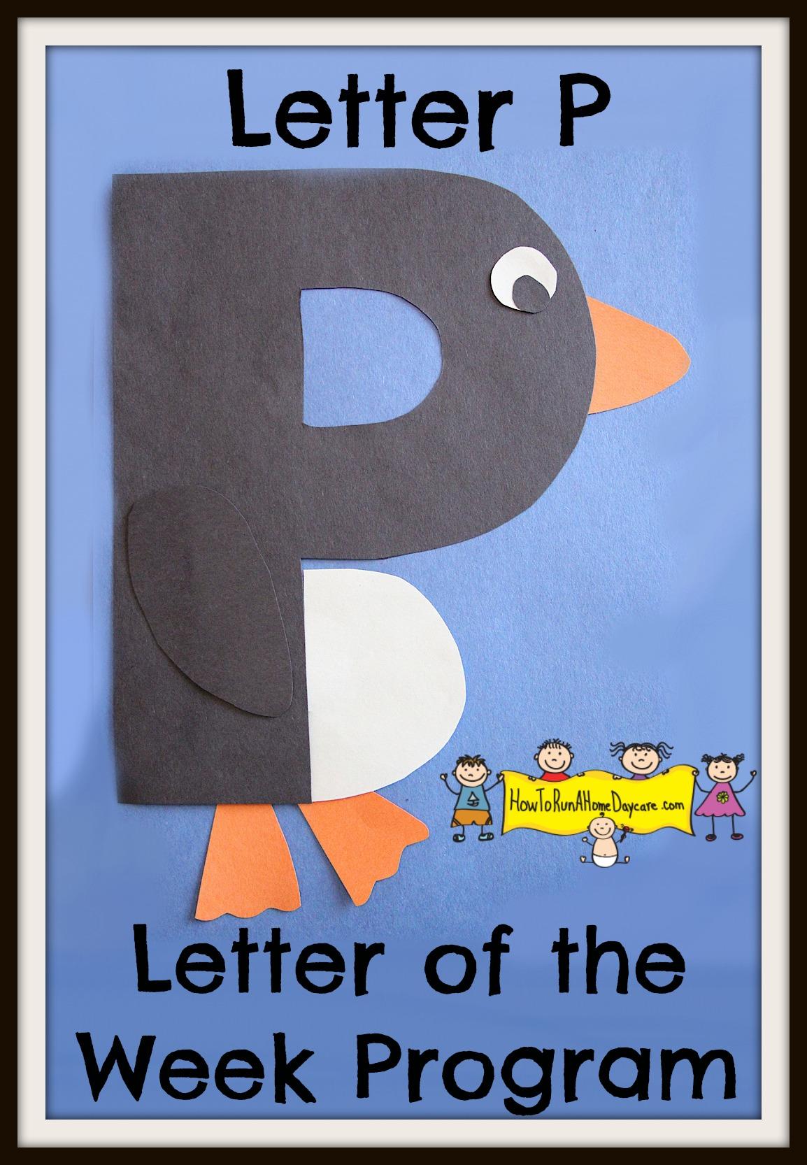 Letter P Letter Of The Week Program