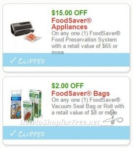 New Printable Coupons 2 Foodsaver Coupons Pre Clipped For