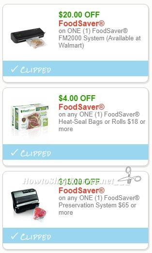 New Printable Coupons 3 Foodsaver Coupons Pre Clipped For
