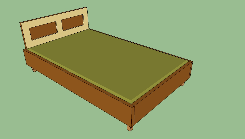how to build a queen wood bed frame
