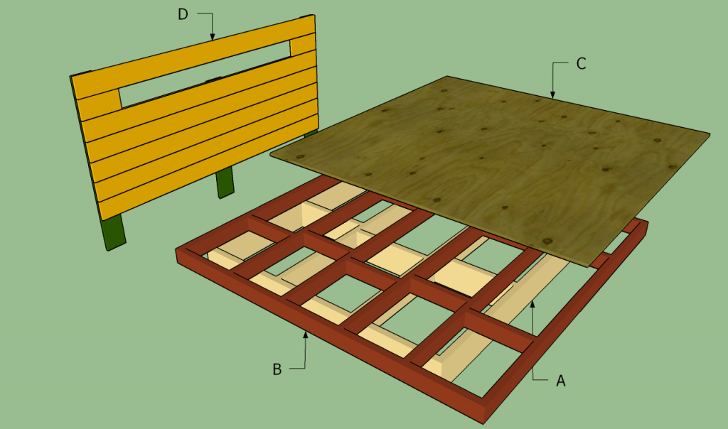 king size floating platform bed plans