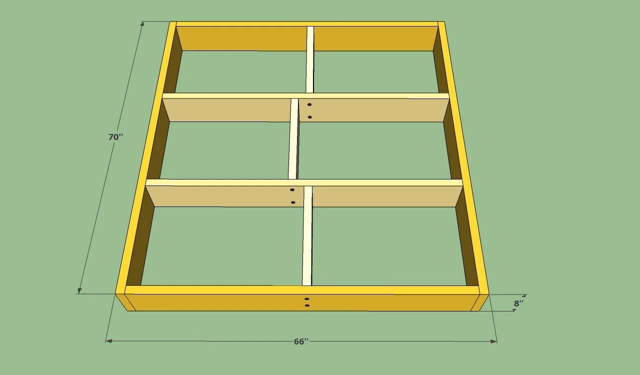platform bed frame plans drawers