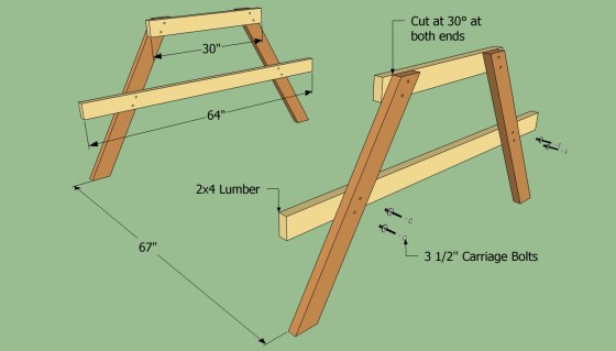 Wood Picnic Table Plans