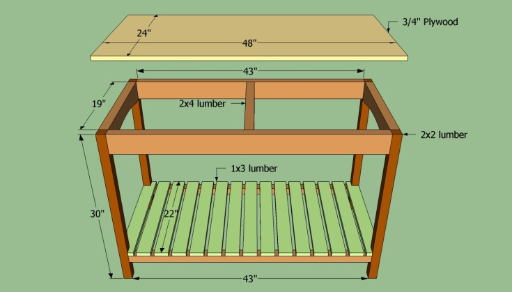 how to build a wooden kitchen island |