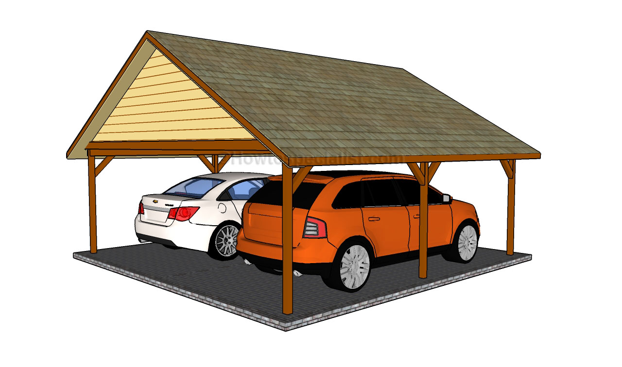 Pdf Plans Double Car Carport Plans Download Storage Bed