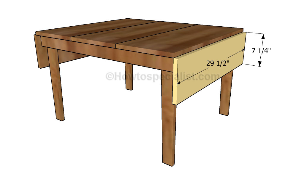 Drop Leaf Table Plans Howtospecialist How To Build