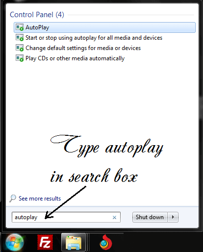 disable autoplay in windows
