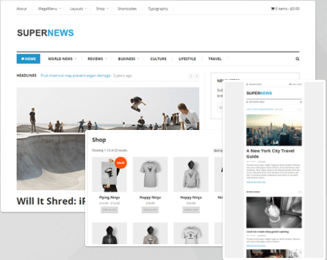 Best Newspaper WordPress Themes -SuperNews Magazine and Blog WordPress Theme