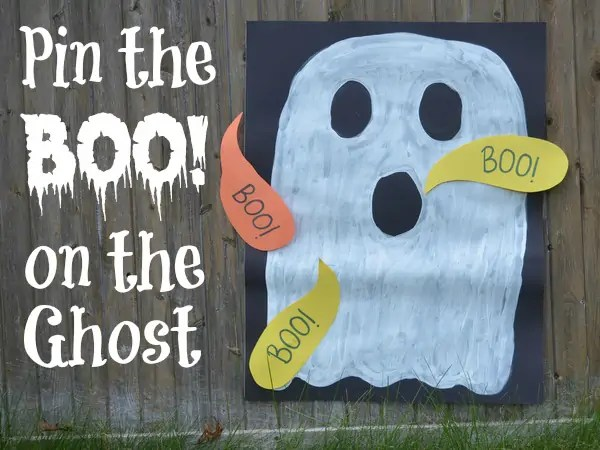 Halloween Games for Kids   How Wee Learn Halloween games for kids   pin the boo on the ghost