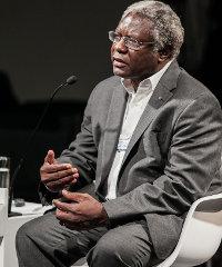 Calestous Juma speaking at last week's World Economic Forum on Africa, held in Cape Town.