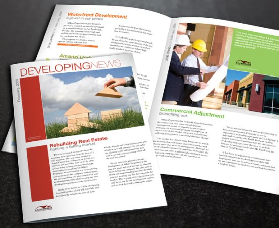 Howzit Media Marketing, S & S Projects newsletter layout