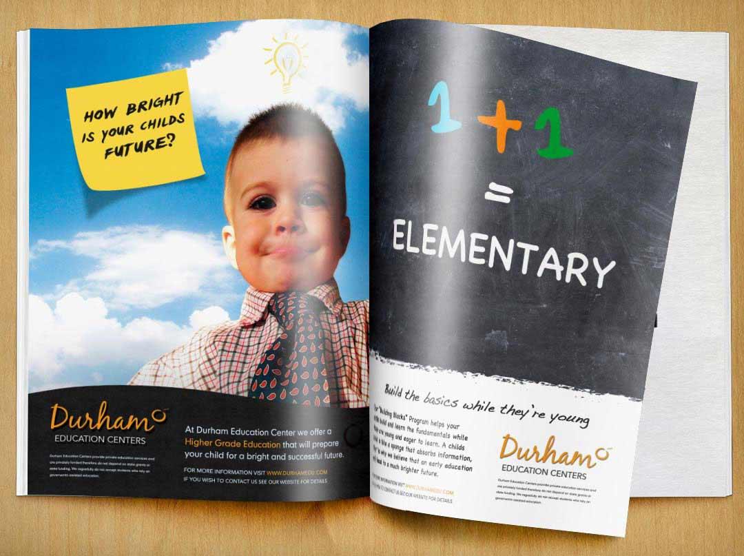 Durham Education Centers Magazine Advertisements branding