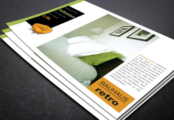 Bauhaus Retro Furniture Flyer branding