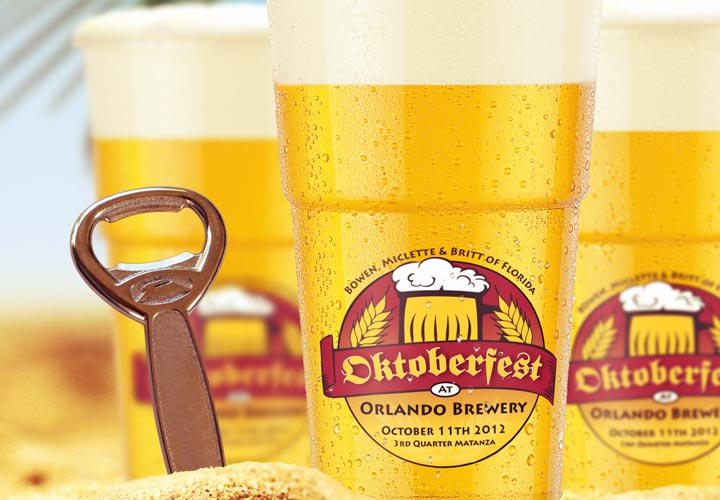 BMB Inc Oktoberfest promotional mugs branding