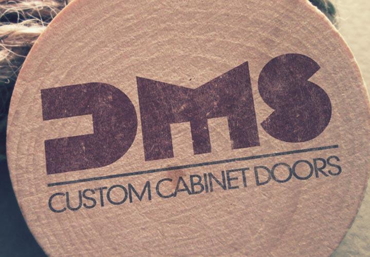 DMS Doors logo mockup branding