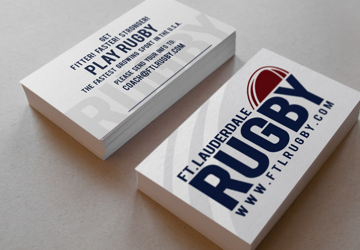 Fort Lauderdale Rugby Club log business cards branding