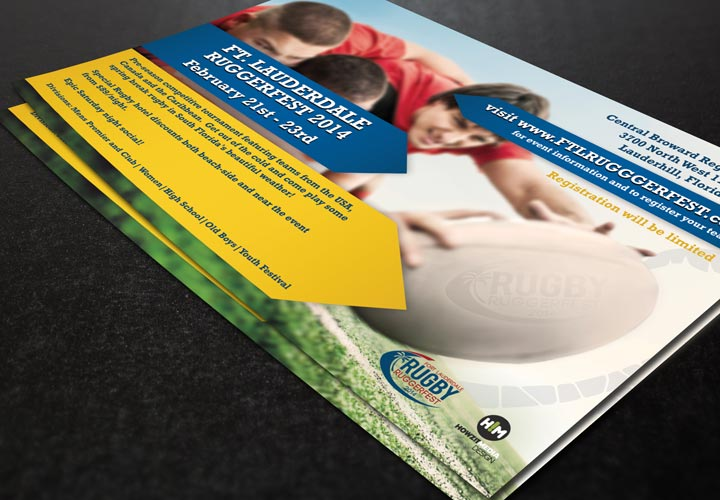 Fort Lauderdale Ruggerfest Informational Flyer branding