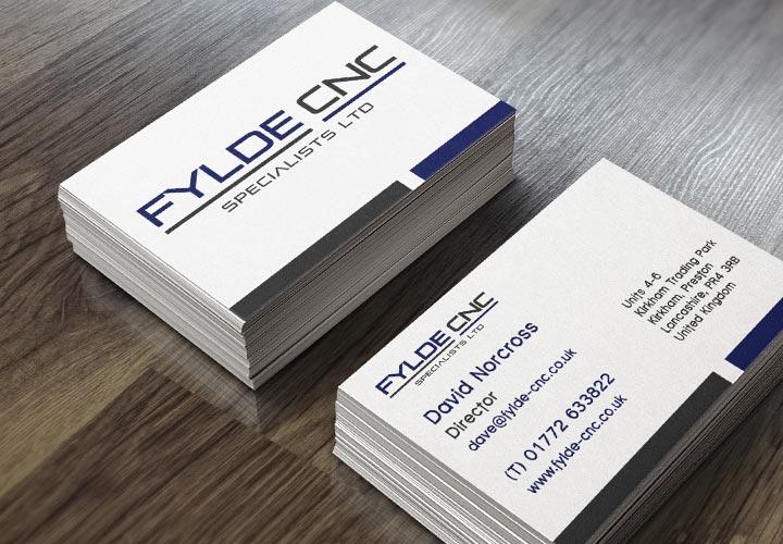 Fylde CNC regular business cards branding