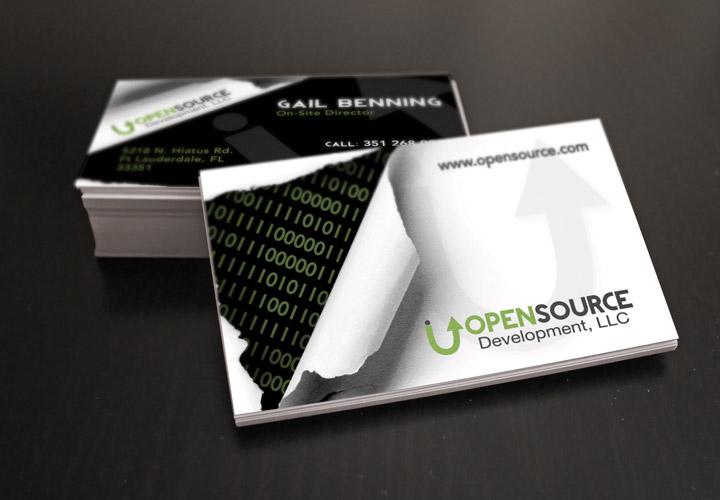 Open Source Development business card branding