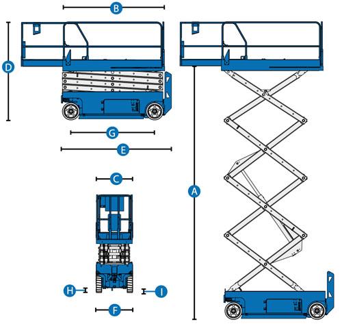 Elektrisk Sakselift Genie GS 3232 diagram