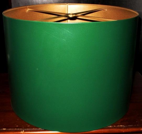 Green Drum Metal Lamp Shade