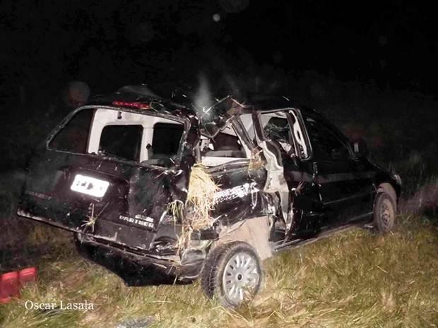 Siete personas heridas tras vuelco de camioneta en Ruta Nacional N°5 altura Mercedes con asistencia suipachense