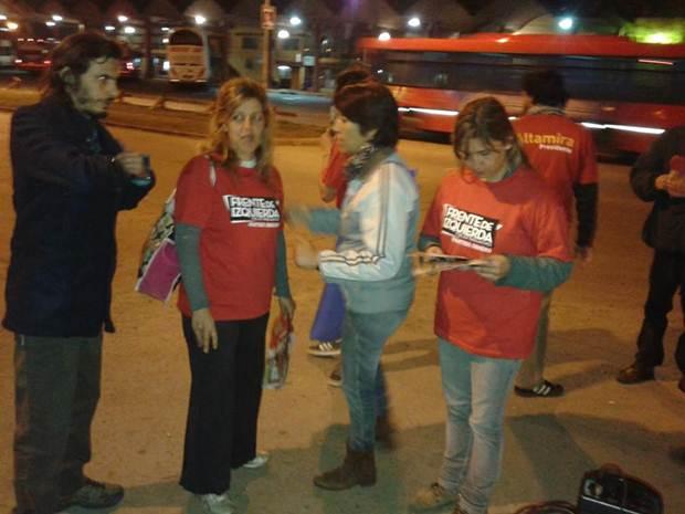Partido Obrero realizó encuentro en apoyo a los trabajadores del Corralón