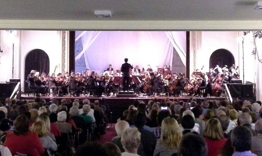 Orquesta Sinfónica Nacional llenó el teatro y despertó todo el interés de los mercedinos