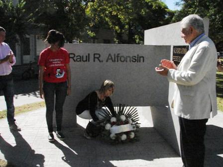 Radicales recordaron al ex presidente Alfonsín