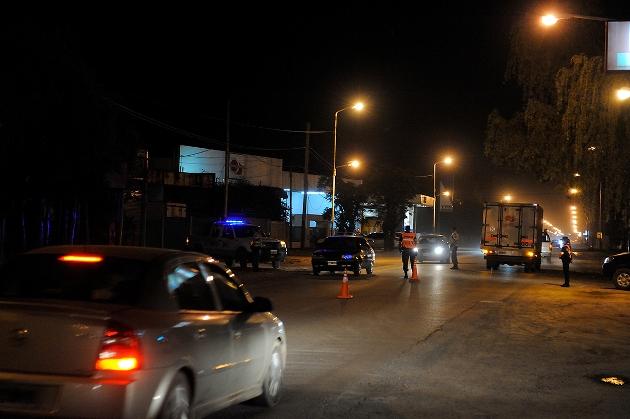 Fuerte y sorpresivo control de seguridad vial