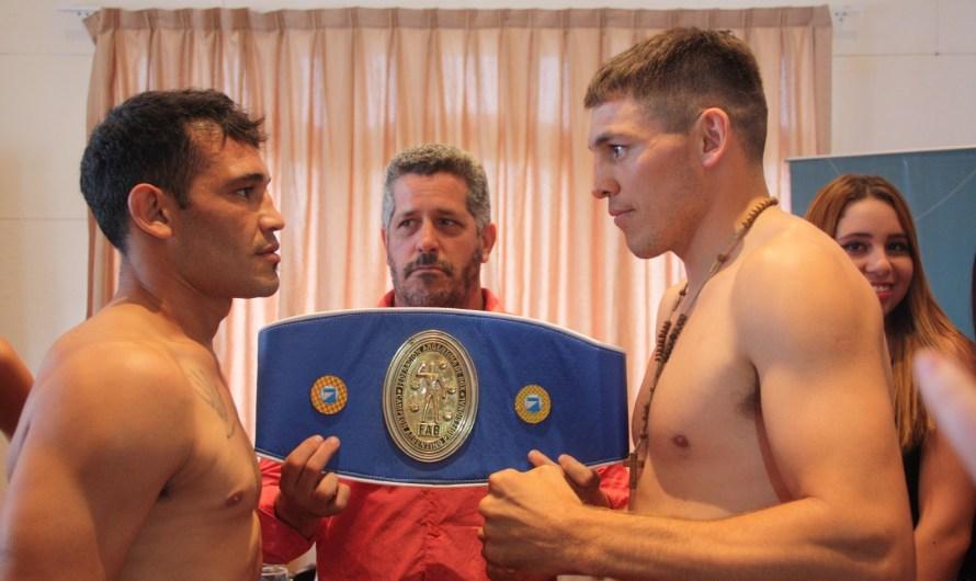 Walter Sequeira superó el pesaje y enfrenta a Elio Trosh