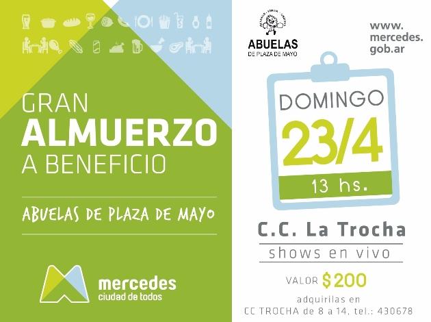Organizan almuerzo solidario por las Abuelas de Plaza de Mayo
