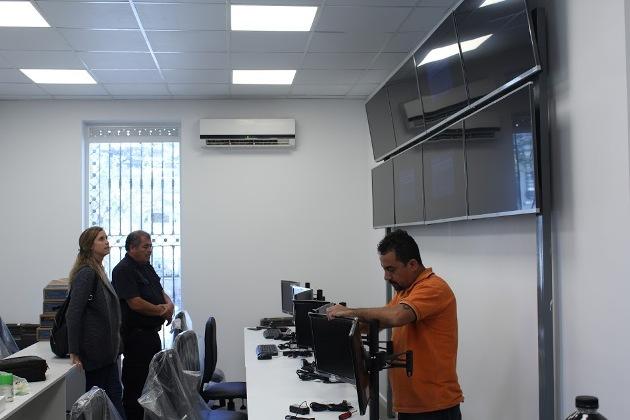 Avanza la remodelación en el Centro de Monitoreo Municipal