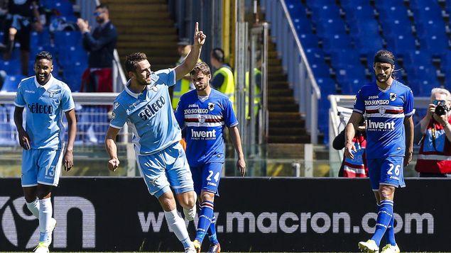 Lazio goleó a Sampdoria en la Serie A