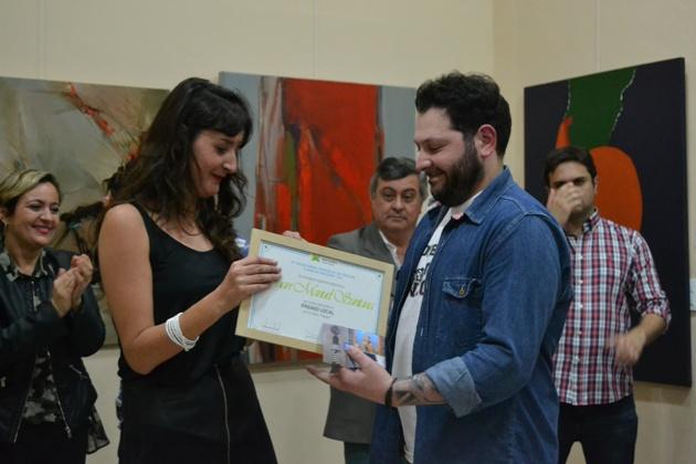 Juan Manuel Santana ganó el premio local en el Salón de Pinturas