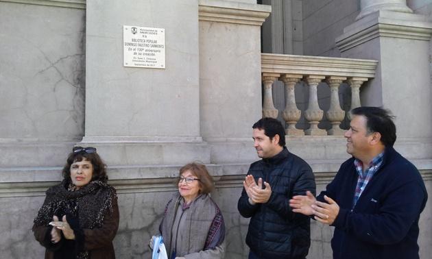 Celebraron los 130 años de la Biblioteca Sarmiento