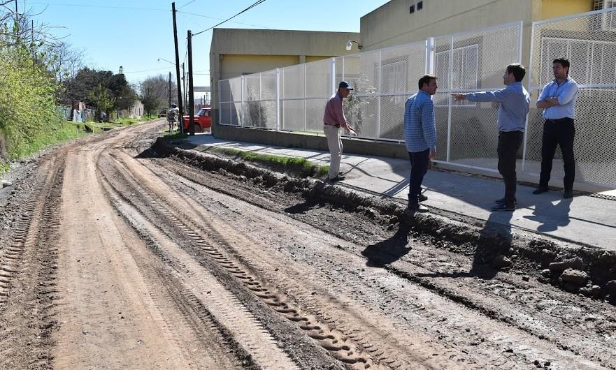 Municipio inició importante obra de pavimento en hormigón en calle 10