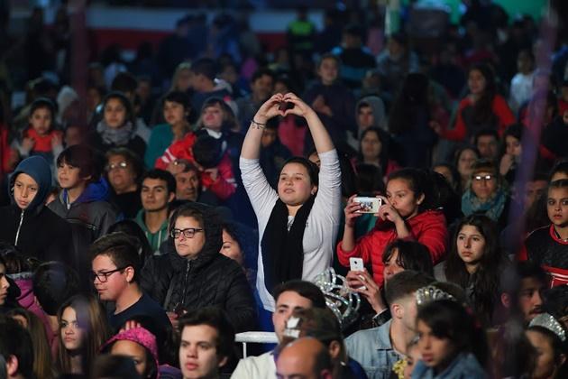 Gran marco de público en la primera noche de la 43° Fiesta Nacional del Salame