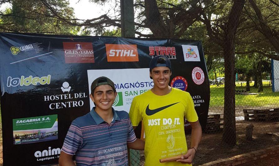 Thiago Pernas, finalista en su primer torneo profesional