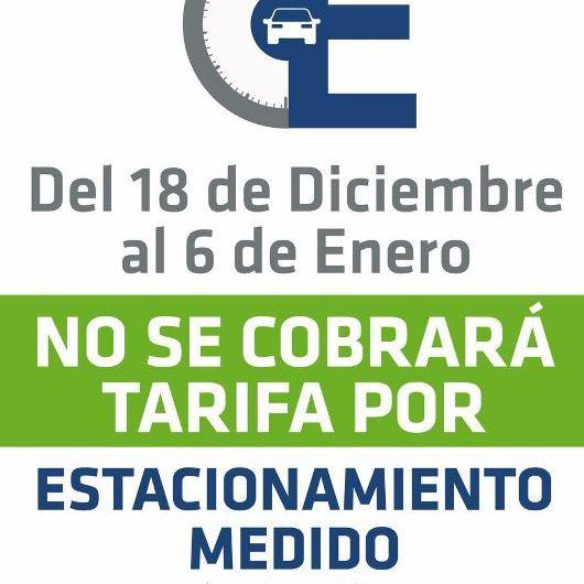 Declaran libre estacionamiento en radio céntrico desde el lunes 18