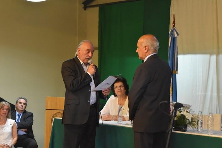 Ustarroz acompañó la asunción de Antonio Lapolla como rector de la UNLu