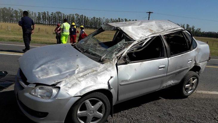 Muere otro pasajero del accidente fatal en Ruta Nacional N°5