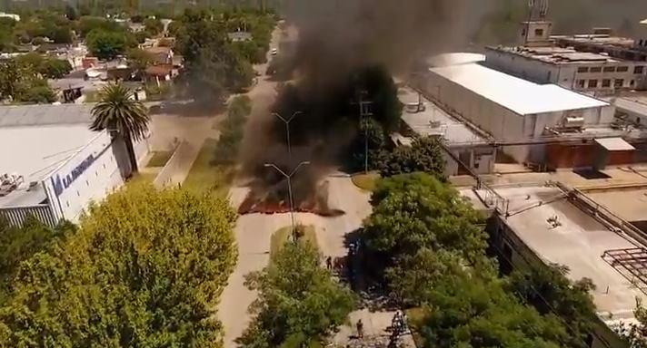 Guilford: mirá el reclamo de los trabajadores desde video de drome
