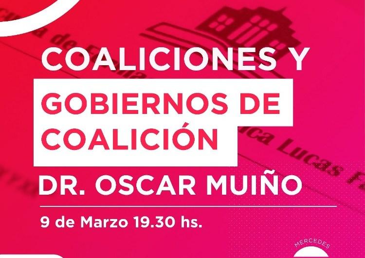 Oscar Muiño en la Escuela de Formación Política «Lucas Fal»
