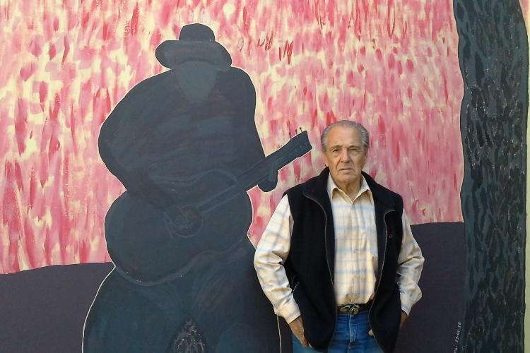 Tito Sanguinetti se inició en el muralismo con un trabajo en su propia casa
