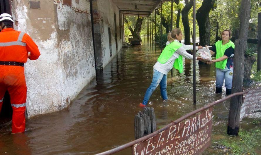 Auto evacuados, evacuados y guardia permanente de la Municipalidad para afectados por temporal