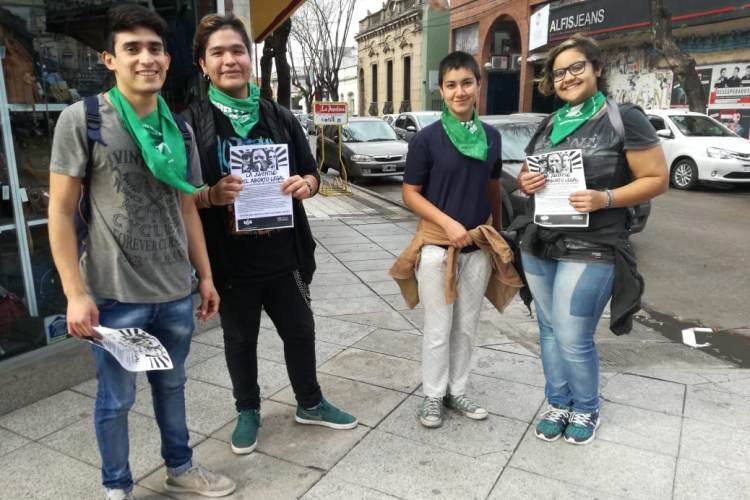 UJS realizó campaña a favor del aborto legal, seguro y gratuito